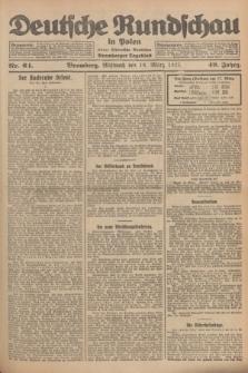 Deutsche Rundschau in Polen : früher Ostdeutsche Rundschau, Bromberger Tageblatt. Jg.49, Nr. 64 (18 März 1925) + dod.