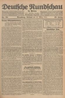 Deutsche Rundschau in Polen : früher Ostdeutsche Rundschau, Bromberger Tageblatt. Jg.49, Nr. 70 (25 März 1925) + dod.