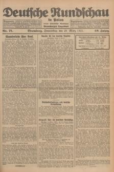 Deutsche Rundschau in Polen : früher Ostdeutsche Rundschau, Bromberger Tageblatt. Jg.49, Nr. 71 (26 März 1925) + dod.
