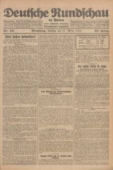 Deutsche Rundschau in Polen : früher Ostdeutsche Rundschau, Bromberger Tageblatt. Jg.49, Nr. 72 (27 März 1925) + dod.