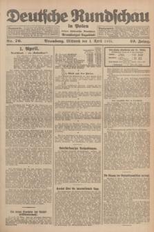 Deutsche Rundschau in Polen : früher Ostdeutsche Rundschau, Bromberger Tageblatt. Jg.49, Nr. 76 (1 April 1925) + dod.