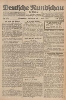 Deutsche Rundschau in Polen : früher Ostdeutsche Rundschau, Bromberger Tageblatt. Jg.49, Nr. 79 (4 April 1925) + dod.