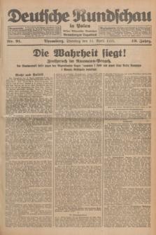 Deutsche Rundschau in Polen : früher Ostdeutsche Rundschau, Bromberger Tageblatt. Jg.49, Nr. 91 (21 April 1925) + dod.