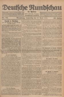 Deutsche Rundschau in Polen : früher Ostdeutsche Rundschau, Bromberger Tageblatt. Jg.49, Nr. 93 (23 April 1925) + dod.