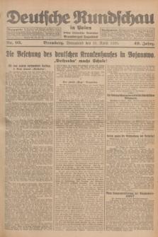 Deutsche Rundschau in Polen : früher Ostdeutsche Rundschau, Bromberger Tageblatt. Jg.49, Nr. 95 (25 April 1925) + dod.