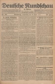 Deutsche Rundschau in Polen : früher Ostdeutsche Rundschau, Bromberger Tageblatt. Jg.49, Nr. 99 (30 April 1925) + dod.