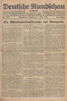 Deutsche Rundschau in Polen : früher Ostdeutsche Rundschau, Bromberger Tageblatt. Jg.49, Nr. 102 (3 Mai 1925) + dod.