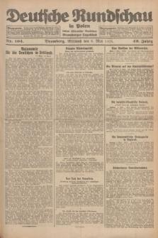 Deutsche Rundschau in Polen : früher Ostdeutsche Rundschau, Bromberger Tageblatt. Jg.49, Nr. 104 (6 Mai 1925) + dod.