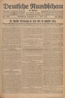 Deutsche Rundschau in Polen : früher Ostdeutsche Rundschau, Bromberger Tageblatt. Jg.49, Nr. 107 (9 Mai 1925) + dod.