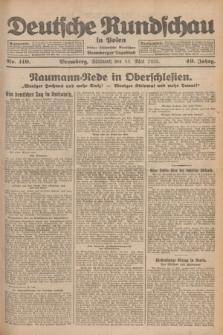 Deutsche Rundschau in Polen : früher Ostdeutsche Rundschau, Bromberger Tageblatt. Jg.49, Nr. 110 (13 Mai 1925) + dod.