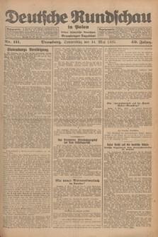 Deutsche Rundschau in Polen : früher Ostdeutsche Rundschau, Bromberger Tageblatt. Jg.49, Nr. 111 (14 Mai 1925) + dod.