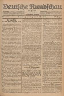Deutsche Rundschau in Polen : früher Ostdeutsche Rundschau, Bromberger Tageblatt. Jg.49, Nr. 115 (19 Mai 1925) + dod.
