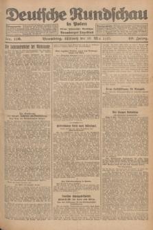 Deutsche Rundschau in Polen : früher Ostdeutsche Rundschau, Bromberger Tageblatt. Jg.49, Nr. 116 (20 Mai 1925) + dod.