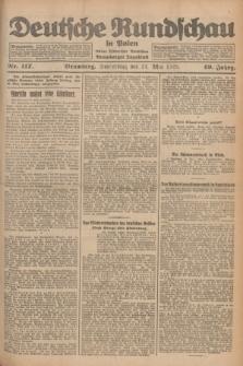 Deutsche Rundschau in Polen : früher Ostdeutsche Rundschau, Bromberger Tageblatt. Jg.49, Nr. 117 (21 Mai 1925) + dod.
