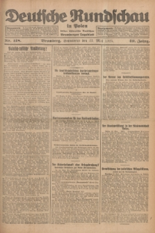 Deutsche Rundschau in Polen : früher Ostdeutsche Rundschau, Bromberger Tageblatt. Jg.49, Nr. 118 (23 Mai 1925) + dod.