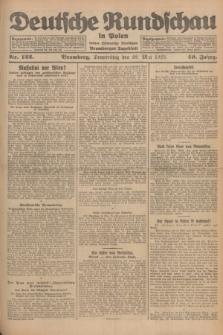 Deutsche Rundschau in Polen : früher Ostdeutsche Rundschau, Bromberger Tageblatt. Jg.49, Nr. 122 (28 Mai 1925) + dod.