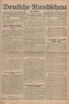 Deutsche Rundschau in Polen : früher Ostdeutsche Rundschau, Bromberger Tageblatt. Jg.49, Nr. 125 (31 Mai 1925) + dod.