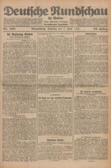 Deutsche Rundschau in Polen : früher Ostdeutsche Rundschau, Bromberger Tageblatt. Jg.49, Nr. 130 (7 Juni 1925) + dod.