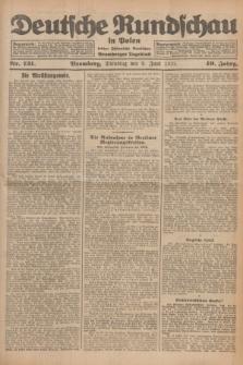Deutsche Rundschau in Polen : früher Ostdeutsche Rundschau, Bromberger Tageblatt. Jg.49, Nr. 131 (9 Juni 1925) + dod.