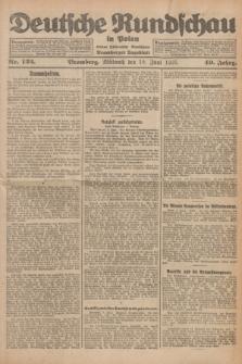 Deutsche Rundschau in Polen : früher Ostdeutsche Rundschau, Bromberger Tageblatt. Jg.49, Nr. 132 (10 Juni 1925) + dod.