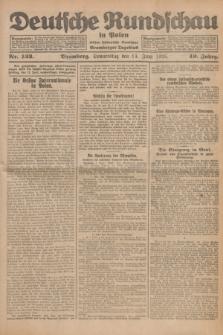 Deutsche Rundschau in Polen : früher Ostdeutsche Rundschau, Bromberger Tageblatt. Jg.49, Nr. 133 (11 Juni 1925) + dod.