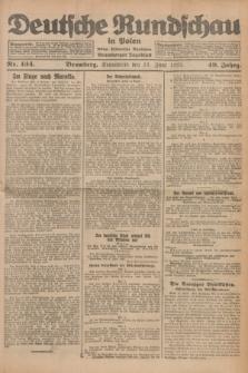 Deutsche Rundschau in Polen : früher Ostdeutsche Rundschau, Bromberger Tageblatt. Jg.49, Nr. 134 (13 Juni 1925) + dod.