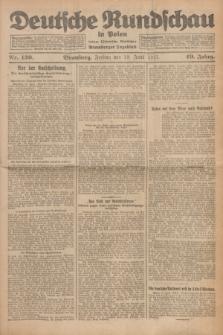 Deutsche Rundschau in Polen : früher Ostdeutsche Rundschau, Bromberger Tageblatt. Jg.49, Nr. 139 (19 Juni 1925) + dod.
