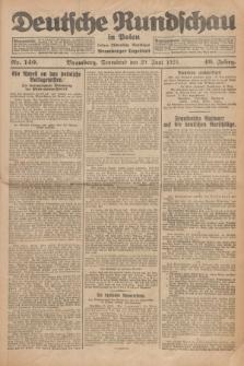Deutsche Rundschau in Polen : früher Ostdeutsche Rundschau, Bromberger Tageblatt. Jg.49, Nr. 140 (20 Juni 1925) + dod.