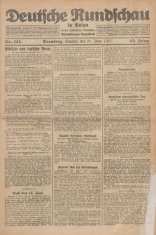 Deutsche Rundschau in Polen : früher Ostdeutsche Rundschau, Bromberger Tageblatt. Jg.49, Nr. 141 (21 Juni 1925) + dod.