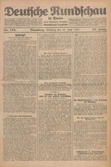 Deutsche Rundschau in Polen : früher Ostdeutsche Rundschau, Bromberger Tageblatt. Jg.49, Nr. 142 (23 Juni 1925) + dod.
