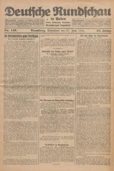Deutsche Rundschau in Polen : früher Ostdeutsche Rundschau, Bromberger Tageblatt. Jg.49, Nr. 146 (27 Juni 1925) + dod.