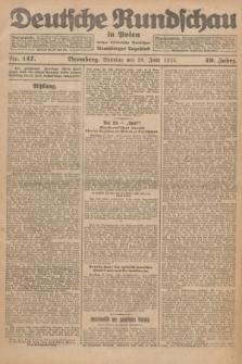 Deutsche Rundschau in Polen : früher Ostdeutsche Rundschau, Bromberger Tageblatt. Jg.49, Nr. 147 (28 Juni 1925) + dod.