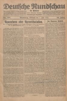 Deutsche Rundschau in Polen : früher Ostdeutsche Rundschau, Bromberger Tageblatt. Jg.49, Nr. 148 (1 Juli 1925) + dod.