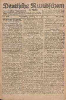 Deutsche Rundschau in Polen : früher Ostdeutsche Rundschau, Bromberger Tageblatt. Jg.49, Nr. 153 (7 Juli 1925) + dod.