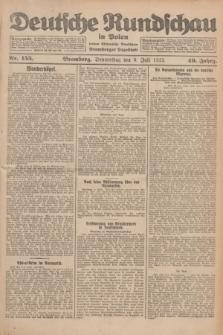 Deutsche Rundschau in Polen : früher Ostdeutsche Rundschau, Bromberger Tageblatt. Jg.49, Nr. 155 (9 Juli 1925) + dod.