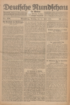 Deutsche Rundschau in Polen : früher Ostdeutsche Rundschau, Bromberger Tageblatt. Jg.49, Nr. 158 (12 Juli 1925) + dod.
