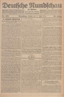 Deutsche Rundschau in Polen : früher Ostdeutsche Rundschau, Bromberger Tageblatt. Jg.49, Nr. 162 (17 Juli 1925) + dod.