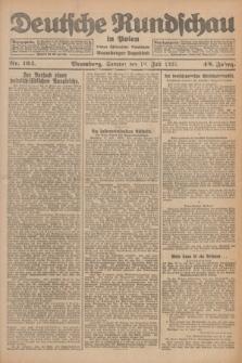 Deutsche Rundschau in Polen : früher Ostdeutsche Rundschau, Bromberger Tageblatt. Jg.49, Nr. 164 (19 Juli 1925) + dod.