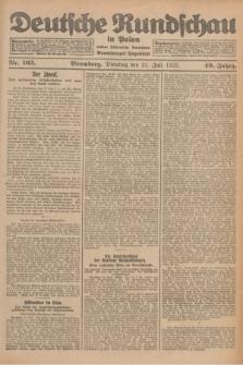 Deutsche Rundschau in Polen : früher Ostdeutsche Rundschau, Bromberger Tageblatt. Jg.49, Nr. 165 (21 Juli 1925) + dod.