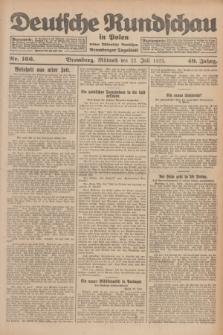 Deutsche Rundschau in Polen : früher Ostdeutsche Rundschau, Bromberger Tageblatt. Jg.49, Nr. 166 (22 Juli 1925) + dod.