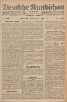 Deutsche Rundschau in Polen : früher Ostdeutsche Rundschau, Bromberger Tageblatt. Jg.49, Nr. 168 (24 Juli 1925) + dod.