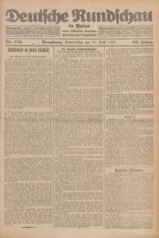 Deutsche Rundschau in Polen : früher Ostdeutsche Rundschau, Bromberger Tageblatt. Jg.49, Nr. 173 (30 Juli 1925) + dod.
