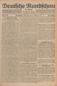 Deutsche Rundschau in Polen : früher Ostdeutsche Rundschau, Bromberger Tageblatt. Jg.49, Nr. 177 (4 August 1925) + dod.