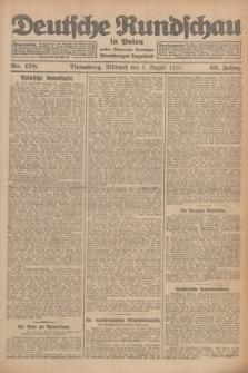 Deutsche Rundschau in Polen : früher Ostdeutsche Rundschau, Bromberger Tageblatt. Jg.49, Nr. 178 (5 August 1925) + dod.