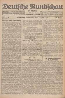 Deutsche Rundschau in Polen : früher Ostdeutsche Rundschau, Bromberger Tageblatt. Jg.49, Nr. 179 (6 August 1925) + dod.