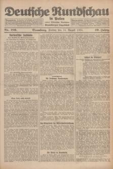 Deutsche Rundschau in Polen : früher Ostdeutsche Rundschau, Bromberger Tageblatt. Jg.49, Nr. 186 (14 August 1925) + dod.