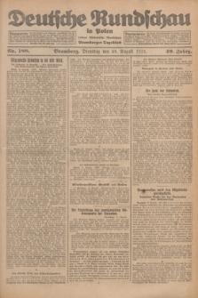 Deutsche Rundschau in Polen : früher Ostdeutsche Rundschau, Bromberger Tageblatt. Jg.49, Nr. 188 (18 August 1925) + dod.