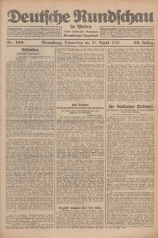 Deutsche Rundschau in Polen : früher Ostdeutsche Rundschau, Bromberger Tageblatt. Jg.49, Nr. 190 (20 August 1925) + dod.