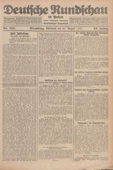 Deutsche Rundschau in Polen : früher Ostdeutsche Rundschau, Bromberger Tageblatt. Jg.49, Nr. 195 (26 August 1925) + dod.