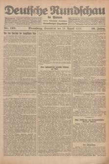 Deutsche Rundschau in Polen : früher Ostdeutsche Rundschau, Bromberger Tageblatt. Jg.49, Nr. 198 (29 August 1925) + dod.